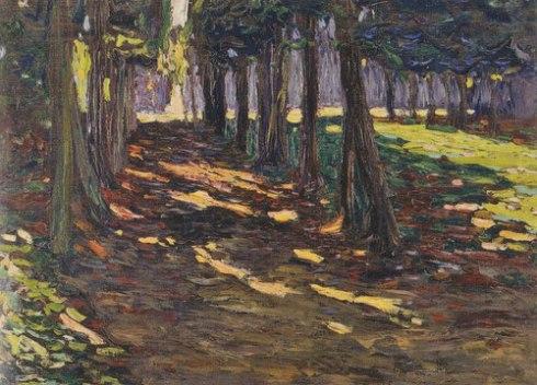 El parque de San Claudio, camino en sombra